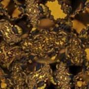Golden Shimmer Poster