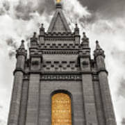 Golden Slc Temple Poster