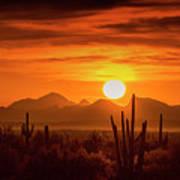 Golden Southwest Sunset  Poster
