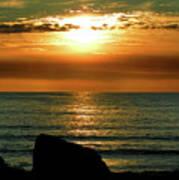 Golden Sunset At The Beach IIi Poster