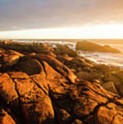 Golden Sunset Coast Poster