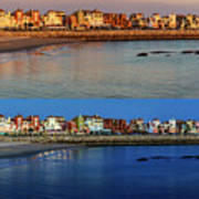 Golden To Blue Hour Puerto Sherry Cadiz Spain Poster