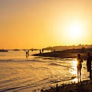 Golden Tropics Hot Beach Sun Poster