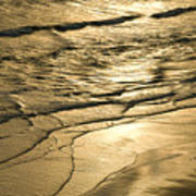 Golden Waves Poster