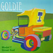 Goldie Model T Poster by Evie Cook