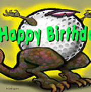 Golf A Saurus Birthday Poster