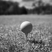 Golf Ball On The Tee Poster by Joe Fox