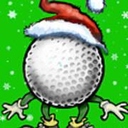 Golf Christmas Poster