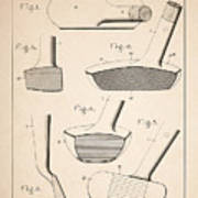 Golf Clubs Patent - Patent Drawing For The 1903 A. F. Knight Golf Clubs Poster