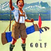 Golf In Deutchland Poster