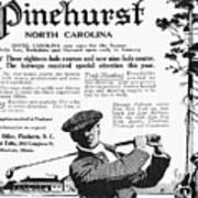 Golf: Pinehurst, 1916 Poster