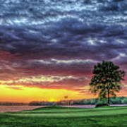 Golf Sunset Number 4 The Landing Reynolds Plantation Golf Art Poster