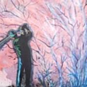 Golfer In The Pink For Par II Poster