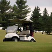 Golfing Golf Cart 01 Poster