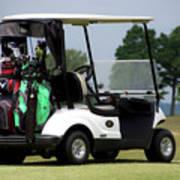 Golfing Golf Cart 05 Poster