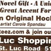 Golteez  Celebrates Carole Spandau Original Hockey Paintings Poster