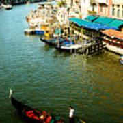 Gondola In Venice Italy Poster