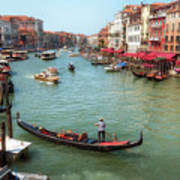 Gondola On The Grand Canal Poster