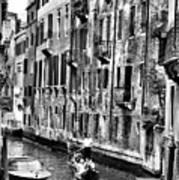 Gondola Ride In Venice Poster