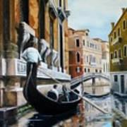 Gondola Ride On Venice Italy Canal Poster