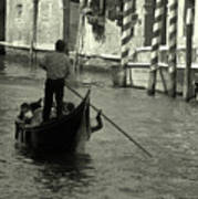 Gondolier In Venice   Poster