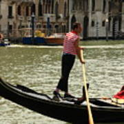Gondolier With Matching Socks Poster