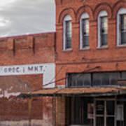 Gone Grocery 5 #vanishingtexas Street Scene Rosebud Texas Poster