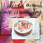 Good Day Donut- Art By Linda Woods Poster