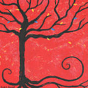 Good Luck Tree - Left Poster by Kristi L Randall