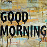 Good Morning Coffee Collage 9x12 Poster