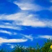 Gorgeous Blue Sky With Clouds Poster