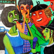 Gossips At The Greengrocer's Poster