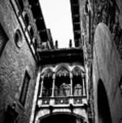 Gothic Bridge In The Gothic Quarter Of Barcelona Poster
