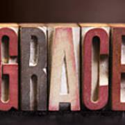 Grace - Antique Letterpress Letters Poster