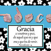 Grace Spanish - Bw Graphic Poster