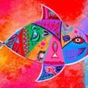Graffiti Fish Poster