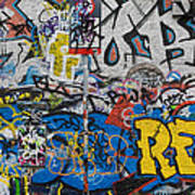 Grafitti On The U2 Wall, Windmill Lane Poster