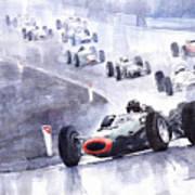 Graham Hill Brm P261 Belgian Gp 1965 Poster