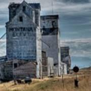 Grain Elevators, Wilsall Poster