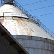 Grain Silo In Roswell Poster