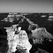 Grand Canyon Black And White Poster