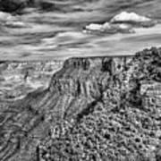 Grand Canyon In Black And White Poster
