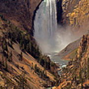 Grand Canyon Of The Yellowstone Poster by Robert Pilkington