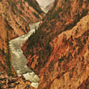 Grand Canyon Of The Yellowstone Vertical Panorama Poster