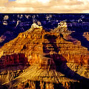 Grand Canyon Painting Sunset Poster