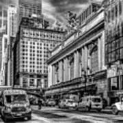 Grand Central At 42nd St - Mono Poster