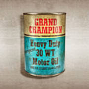 Grand Champion Motor Oil Poster