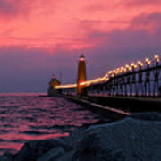 Grand Haven Sunset Poster