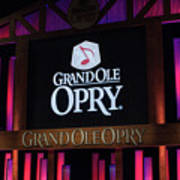 Grand Ole Opry House In Nashville, Tennessee. Poster