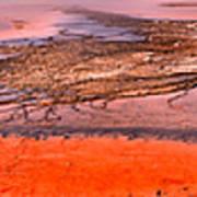 Grand Prismatic Algae Mat Panorama Poster